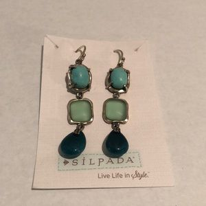 Silpada Sea and Sky Earrings New